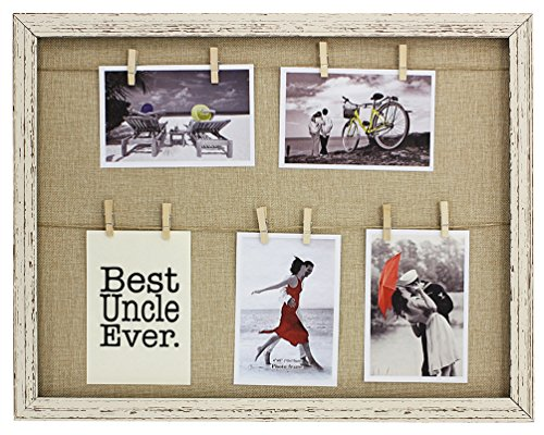 Uncle Gifts Best Uncle Ever Clothesline Picture Frame Faux Reclaimed Wood 5-Display Photo Frame (Uncle Picture Frame compare prices)
