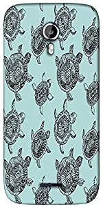 Snoogg seamless pattern with turtles seamless pattern can be used for wallpaper Designer Protective Back Case Cover For Micromax A117