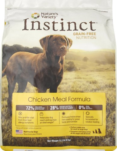 Instinct Grain-Free Chicken Meal Dry Dog Food by Nature's Variety, 13.2-Pound Package
