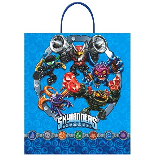 "Amscan Skylanders Birthday Hero Loot Bag Party Favour, Multicolor, 16"" x 14"""