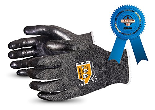 TenActiv Cut Resistant Gloves: 18-Gauge Composite Filament Fiber w/ Level-4 Cut-Resistance & Foam Nitrile Palms (Touchscreen-Compatible) Size 8 Industrial Work Gloves