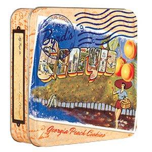 Byrd Travel Postcard Tin Georgia Peach Cookies