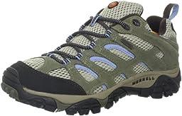 Merrell Women\'s Moab Waterproof Hiking Shoe,Dusty Olive,10 M US
