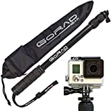 GoRad Gear Selfie Stick For GoPro Hero Cameras Waterproof Pole Extends 17-40 Inches Aluminum Tripod Mount And...