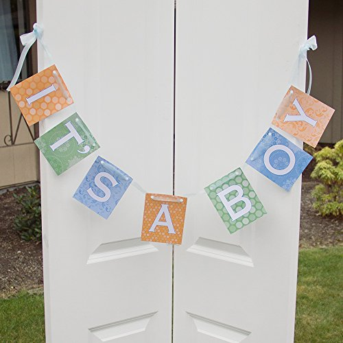 """""""It'S A Boy"""" Banner - Baby Shower Decorations - Welcome Baby Banner"""