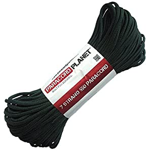 Paracord Planet 100' 550lb Type III Dark Green Paracord