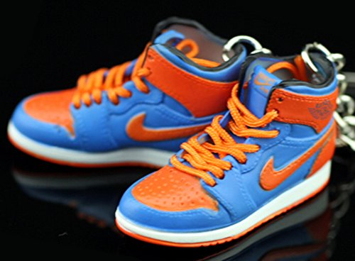 Air Jordan I 1 Retro High New York Knicks Orange Blue OG Sneakers Shoes 3D Keychain Figure