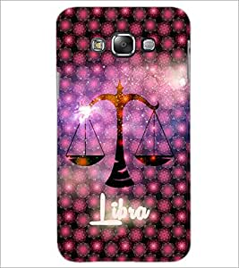 PrintDhaba Zodiac Libra D-5763 Back Case Cover for SAMSUNG GALAXY E7 (Multi-Coloured)