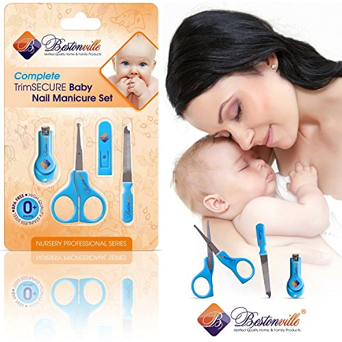 #1 Baby Nail Clippers Set with Scissors, File and Safety ...