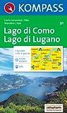Kompass Karten, Lago di Como, Lago di Lugano: Wandern / Rad. Escursioni / bike. GPS-genau (Aqua3 Kompass) Rezessionen Picture