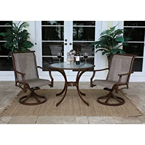Chub Cay Patio 3 Piece Rocking Chair and Table Set