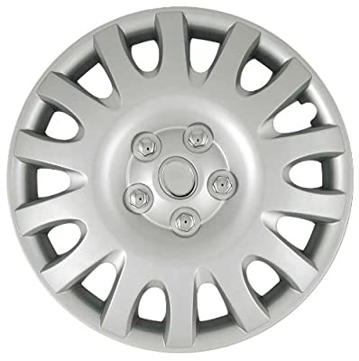 CCI IWCB8839-16S 16 Inch Clip On Silver Finish Hubcaps - Pack of 4