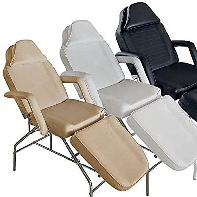 Saloniture Professional Multi-purpose Salon Chair / Massage Table / Facial Bed with Adjustable Stool