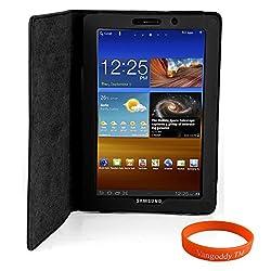 Luxmo Black Tablet Case + Neon Orange Vangoddy Wrist Band
