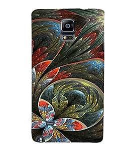 EPICCASE Flower artistc Cases Mobile Back Case Cover For Samsung Galaxy Note 4 (Designer Case)