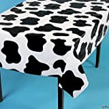 2 Cow Spots Table Cloth Covers Farm Barnyard Animal Birthday Party 54 x 72