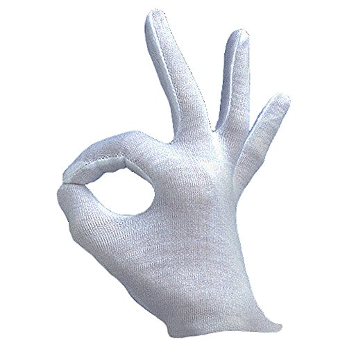 Adult Opera Magician Victorian Costume Gloves White One Size