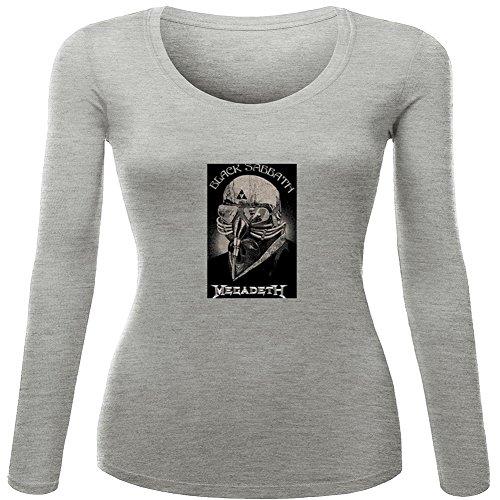 Black Sabbath Album For 2016 Womens Printed Long Sleeve tops t shirts