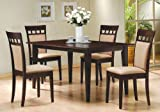 5pc Casual Dining Table Chairs Set Contemporary Style Picture