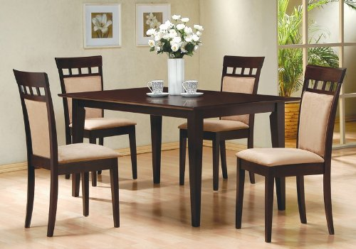 5 Piece Dining Set In Rich Cappuccino   Coaster Amazon Price: $932.12  $398.65 Buy Now (price As Of Sep 17, 2013)