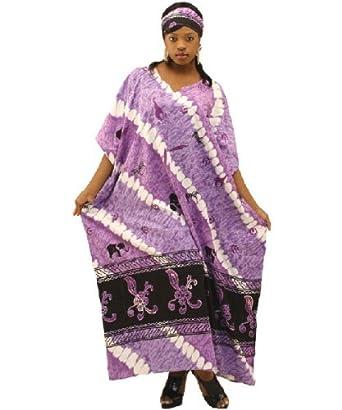 Amazon.com: Tye Dye Tie Die Safari Print Caftan Kaftan with Matching