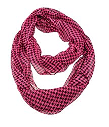 WishCart Chequer Printing Infinity Circle Scarf For Womens and Girls-Violet