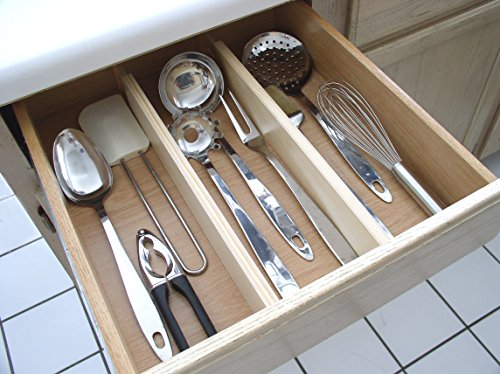 Kitchen Drawer Dividers And Organizer, Utensil And Kitchen Tools Spacer  Adjustable, Set Of 2