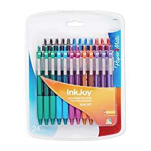 Paper Mate InkJoy 300RT Retractable Ballpoint Pen, Medium Point, 24-Pack, Assorted Colors (1904804)
