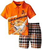 Disney Planes Boys 2-7 Plaid Short Set
