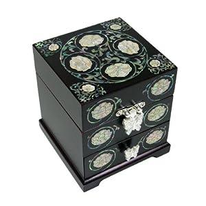 bo te bijoux 3 etages miroir rangement bague design. Black Bedroom Furniture Sets. Home Design Ideas