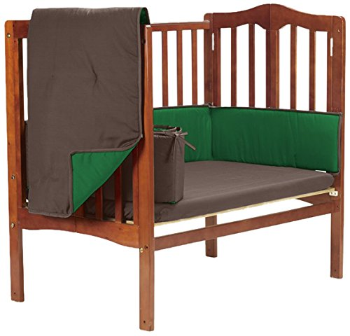 Baby Doll Reversible Port-a-Crib Bedding, Brown/Green