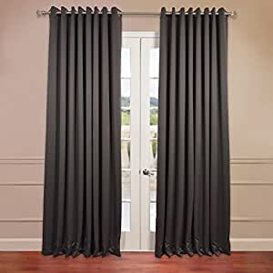 Anthracite Grey Grommet Doublewide Blackout Curtain Kitchen Home