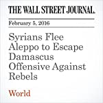 Syrians Flee Aleppo to Escape Damascus Offensive Against Rebels | Dana Ballout,Thomas Grove,Emre Peker