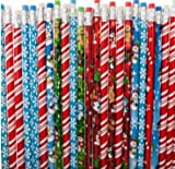 ~ 24 ~ Holiday / Christmas Pencils ~ Assorted ~ New ~ Stocking Stuffers, Santa, Snowman, Candy Cane, Snowflake, More...