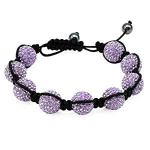 Silk Crystal and Simulated Gems Ladies Bracelet. Total Item weight 27.6 g.