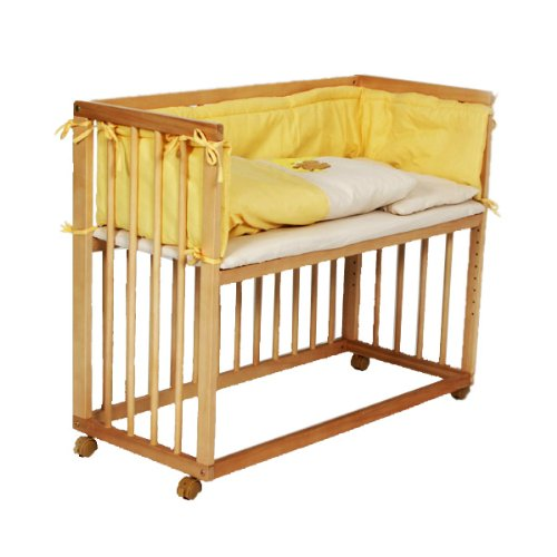 Baby Bedside Cot Bed Co Sleeper yellow - Martha H. Fleming