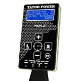 New 4nd Generation P028-II Dual Tattoo Power Supply 1 Foot Pedal 2 Clip cords (Color: Black)