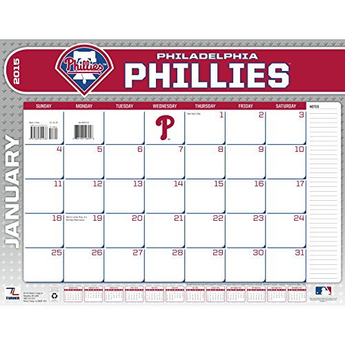 Turner Perfect Timing 2015 Philadelphia Phillies Desk Calendar, 22 X 17 Inches (8061425)