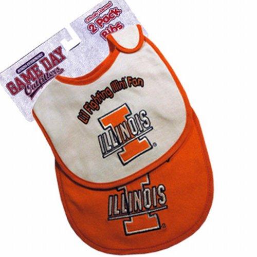 Ncaa Illinois Fighting Illini Infant Bib 2-Pc Set front-855209