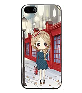 Vizagbeats Girl with HandBag Back Case Cover for APPLE IPHONE 4