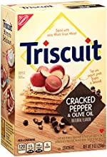 Triscuit Crackers, Cracked Pepper & Olive Oil, 9 Ounce Box (Pack of 12)