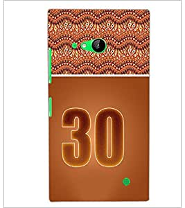 PrintDhaba Numerology Number 30 D-3666 Back Case Cover for NOKIA LUMIA 730 (Multi-Coloured)