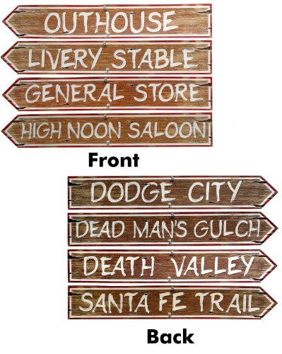 Western Signs Cutouts, 4ct by Party America