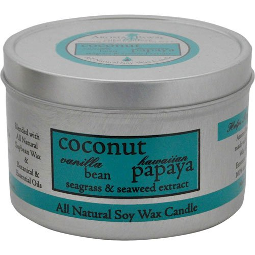 Coconut Papaya Travel Tin Candle