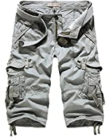 Minetom Vintage Cool d'été Homme Pocket Hobo coupe décontractée Cargo Shorts Sports de combat Casual Pantalon