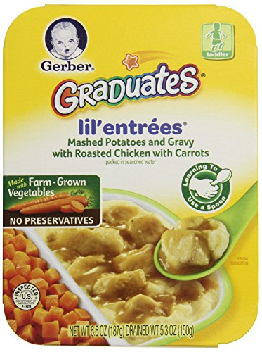 Gerber Graduates Lil' Entrees Mashed Potatoes & Gravy With Roasted Chicken & Carrots, 6.6-Ounce (Pack Of 8) front-63561