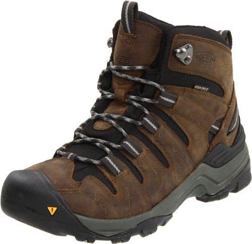 KEEN Men's Gypsum Mid Waterproof Hiking Boot,Dark Earth/Neutral Gray,14 M US