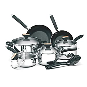 Paula Deen Signature Collection Porcelain Nonstick Oven Safe15-piece Aqua Speckle Cookware Set