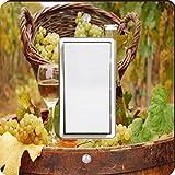 Rikki Knight White Wine Glasses with Grapes Single Rocker Light Switch Plate