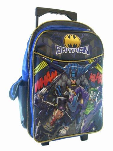 Batman Rolling Backpack - Boys Rolling School Bag at Gotham City Store